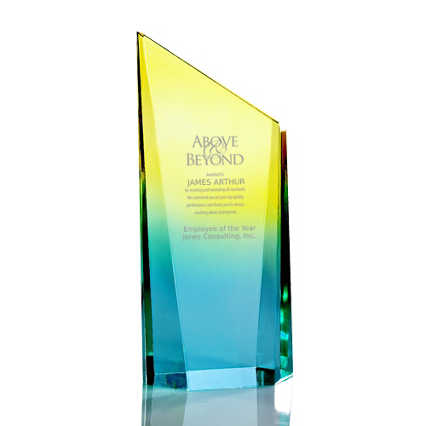 Ombre Acrylic Trophy Collection - Slanted Rectangle
