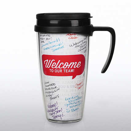 Autograph Travel Mug - Welcome to Our Team!