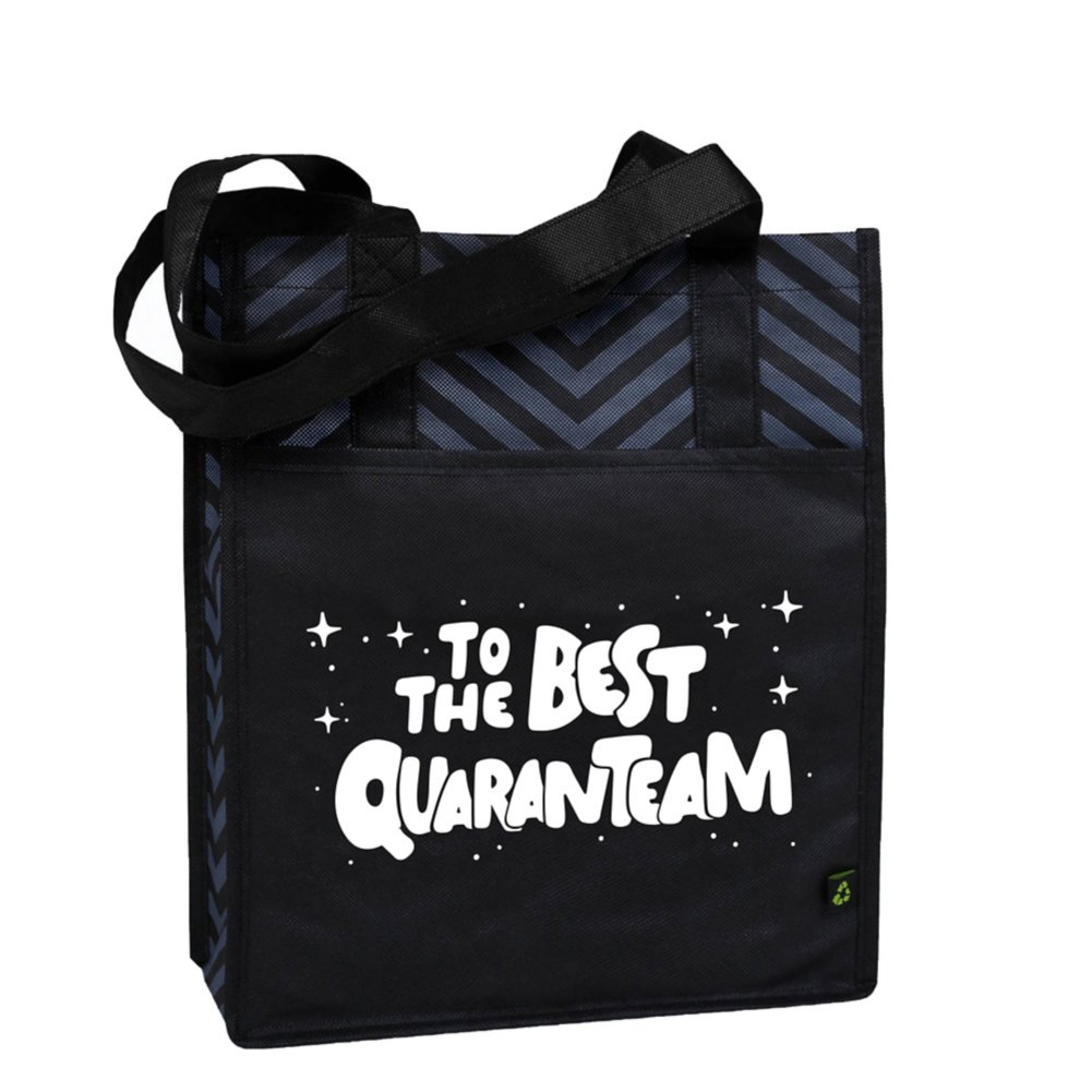 View larger image of Chevron Shopper Tote - Best Quaranteam