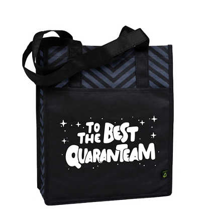 Chevron Shopper Tote - Best Quaranteam
