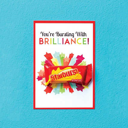 Candy Coated Cards - You're Bursting with Brilliance!