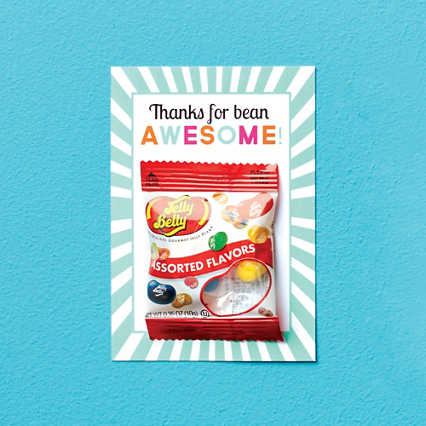 Candy Coated Cards - Thanks for Bean Awesome!