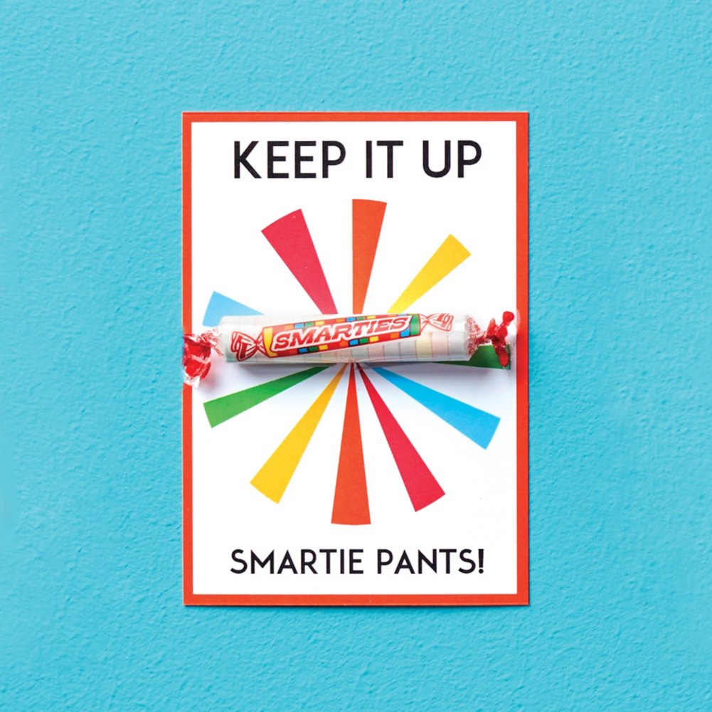 View larger image of Candy Coated Cards - Keep It Up Smartie Pants!