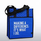 View larger image of Chevron Shopper Tote - Making a Difference: It's What I Do