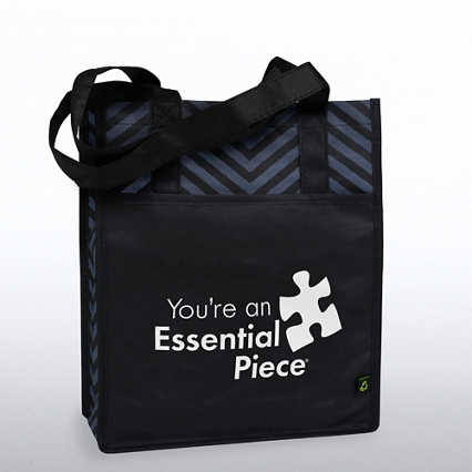 Chevron Shopper Tote - You're an Essential Piece