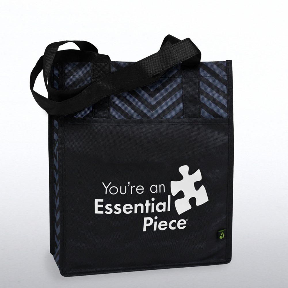 View larger image of Chevron Shopper Tote - You're an Essential Piece