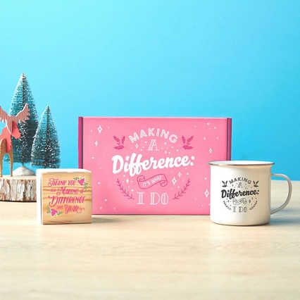 Joyful Duo: Mug & Plant Cube Gift Sets - Commitment