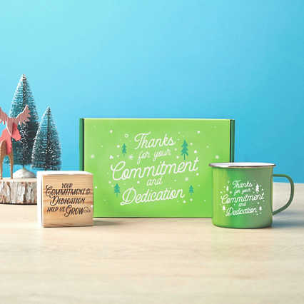 Joyful Duo: Mug & Plant Cube Gift Sets - Commitment