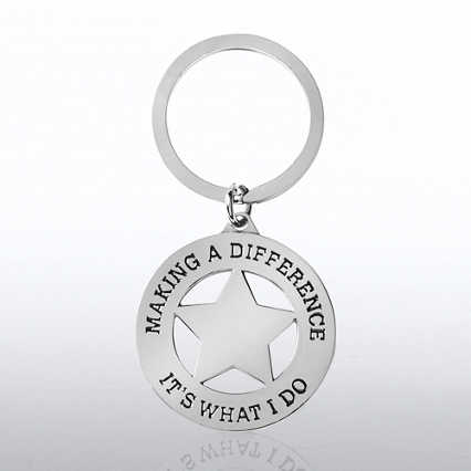 Nickel-Finish Key Chain - Making a Difference is What I Do
