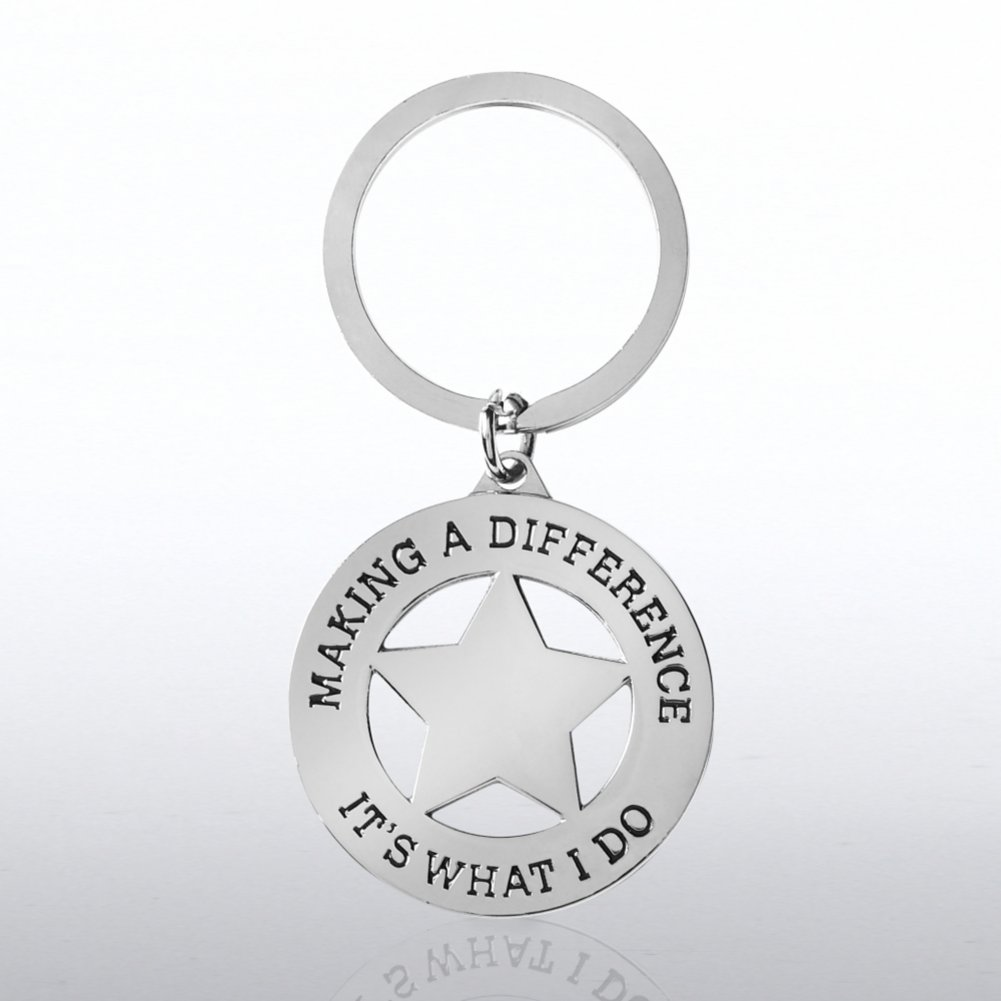 View larger image of Nickel-Finish Key Chain - Making a Difference is What I Do