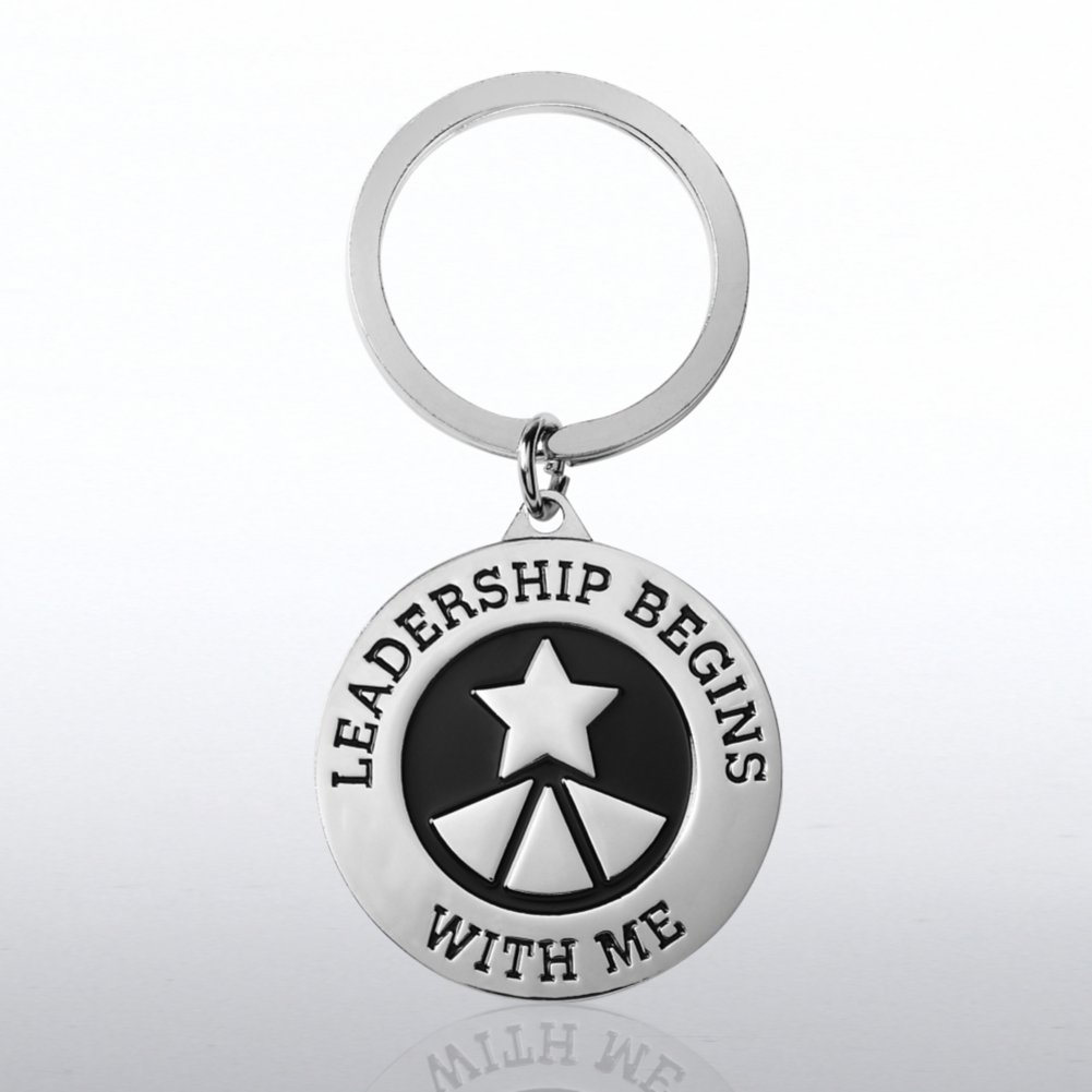 View larger image of Nickel-Finish Key Chain -  Leadership Begins with Me