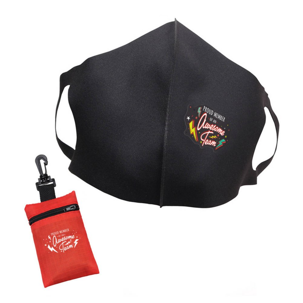 View larger image of Mask Up Face Mask and Travel Pouch - Awesome Team