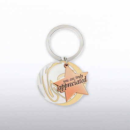 Charming Copper Key Chain - You Are Truly Appreciated