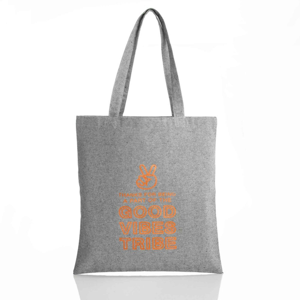Heathered Tweed Metallic Tote - Good Vibes Tribe