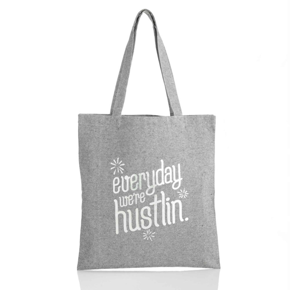 View larger image of Heathered Tweed Metallic Tote - Everyday We're Hustlin
