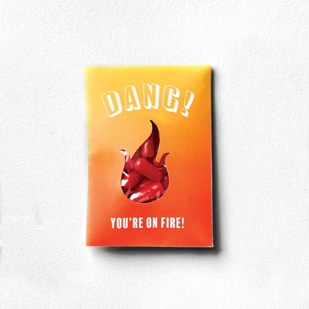 View larger image of Sweet as Candy Card - Dang You're On Fire