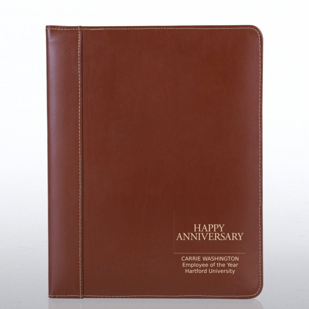 View larger image of Genuine Leather Padfolio - Brown