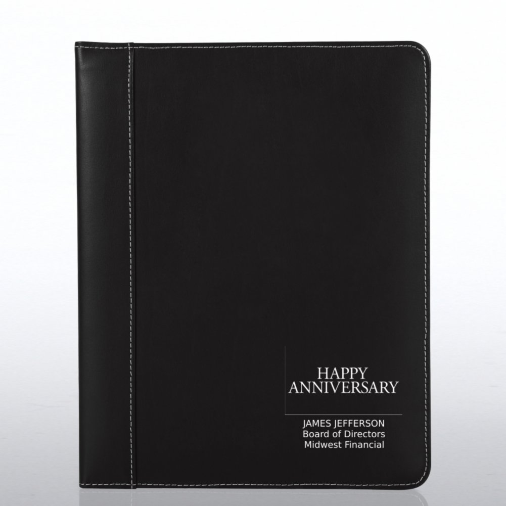 View larger image of Genuine Leather Padfolio - Black