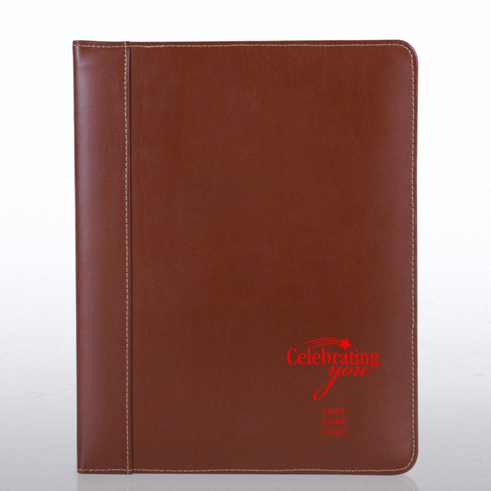 Genuine Leather Padfolio - Brown