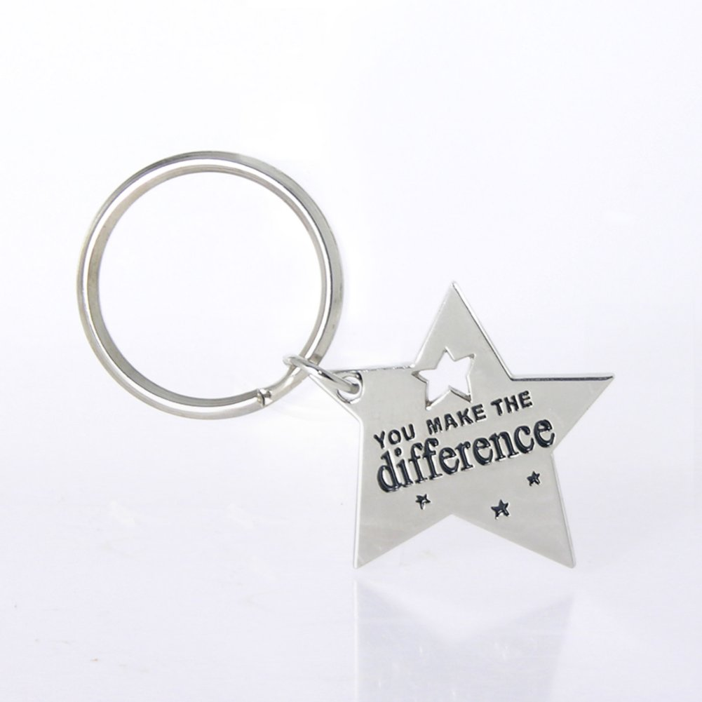 View larger image of Nickel-Finish Key Chain - You Make the Difference Star