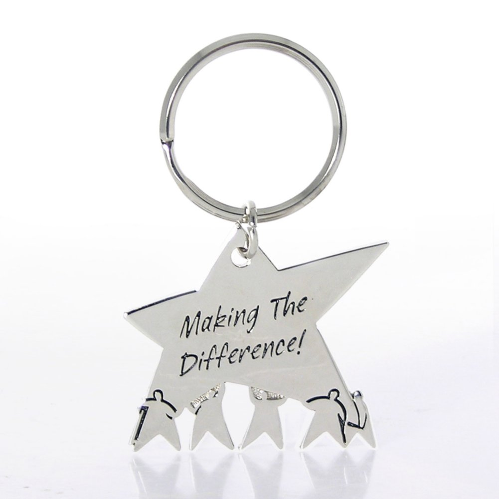 View larger image of Nickel-Finish Key Chain - Team Star: Making the Difference