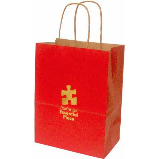 View larger image of Kraft Paper Gift Bag - Essential Piece