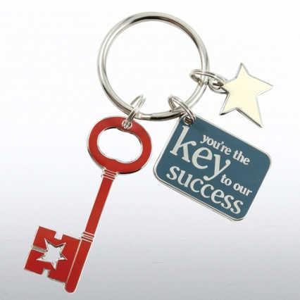 Simply Charming Key Chain - Key to Success