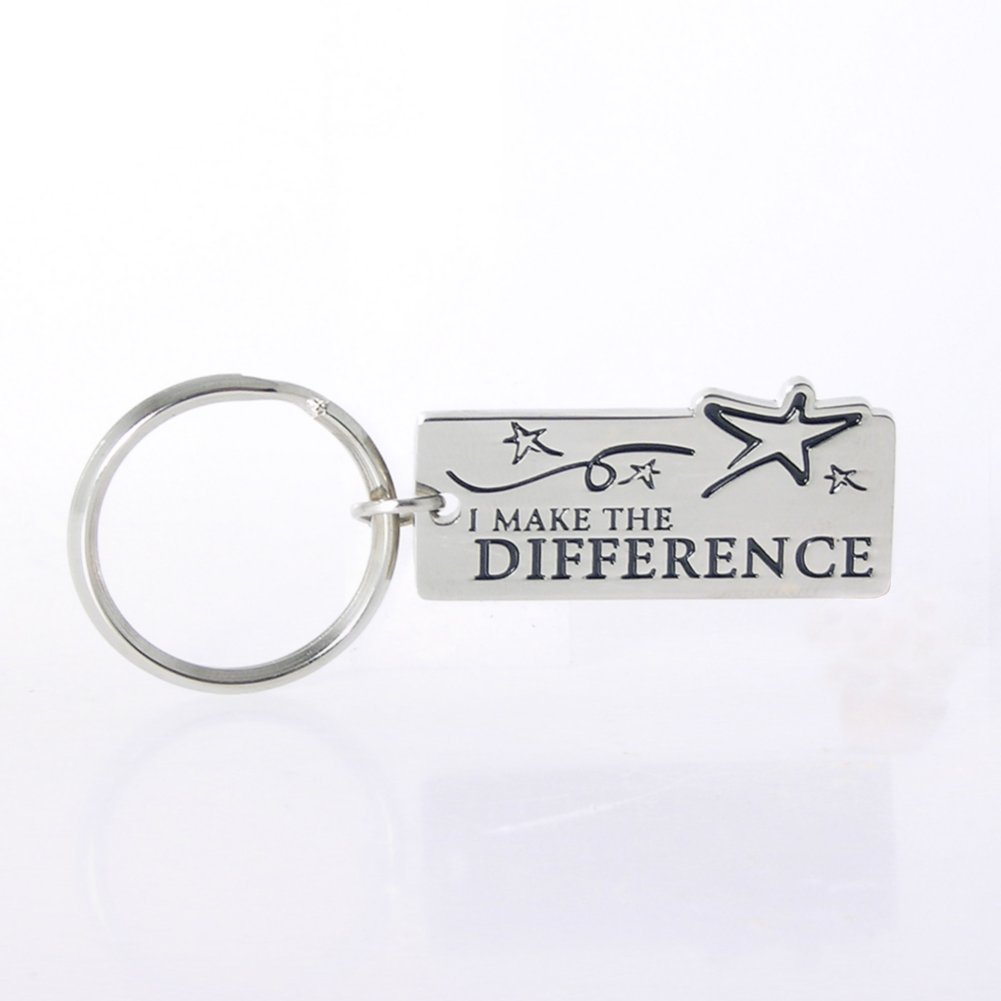 Nickel-Finish Key Chain - I Make the Difference