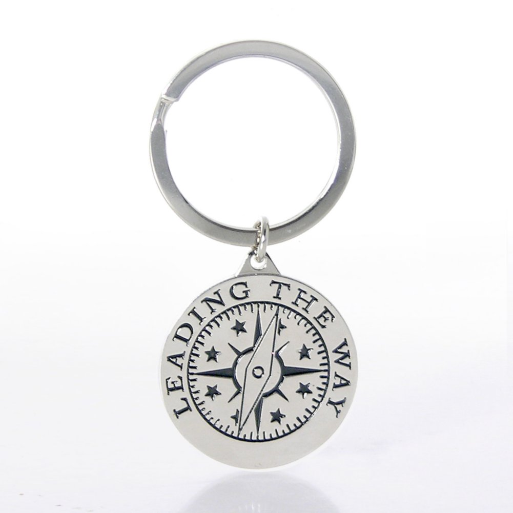 View larger image of Nickel-Finish Key Chain - Compass: Leading the Way