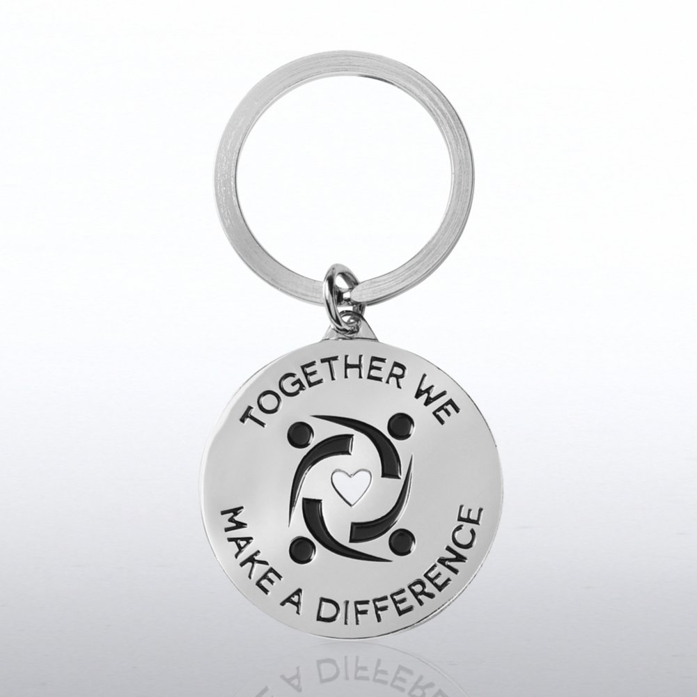 View larger image of Nickel-Finish Key Chain - Together We Make a Difference
