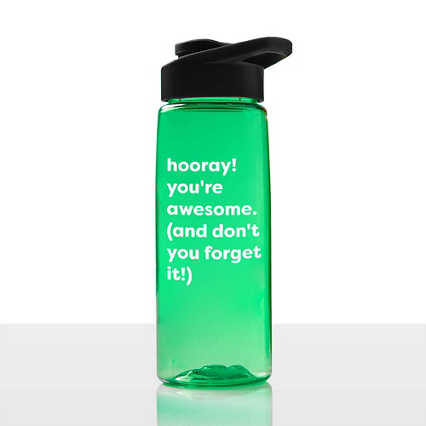 Value Everyday Vibrance Water Bottle - Hooray!