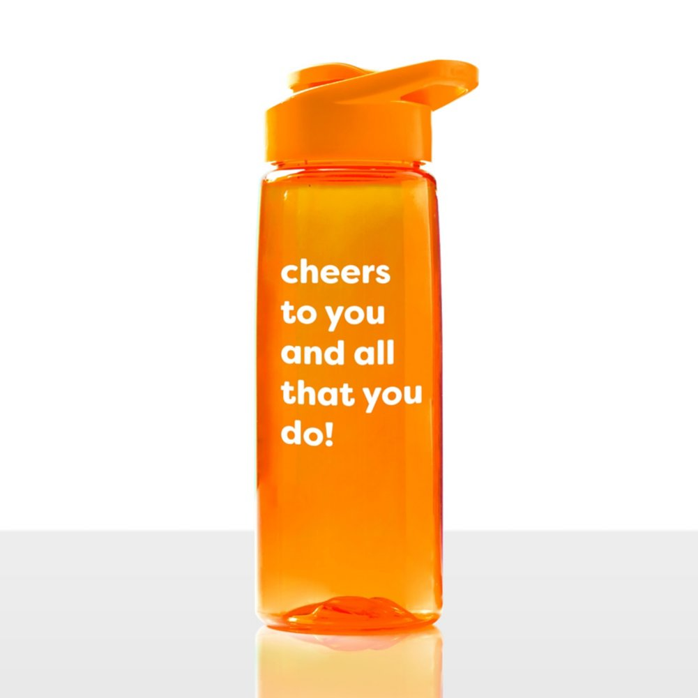 View larger image of Value Everyday Vibrance Water Bottle - Cheers