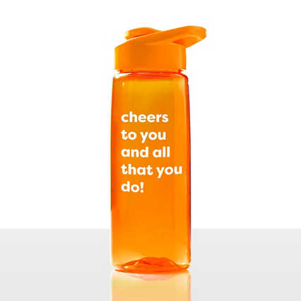 Everyday Vibrance Water Bottle - Cheers
