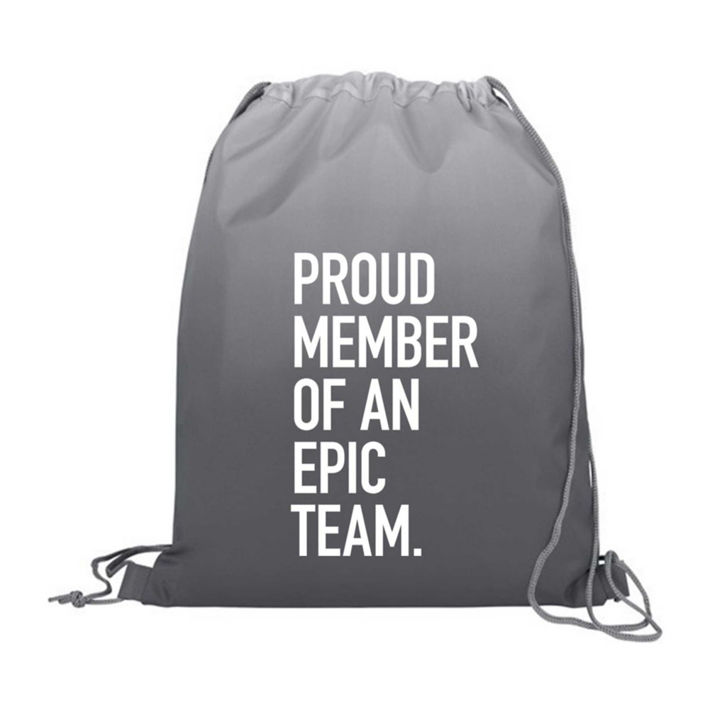 View larger image of Value Ombre Drawstring Backpack - Proud Member