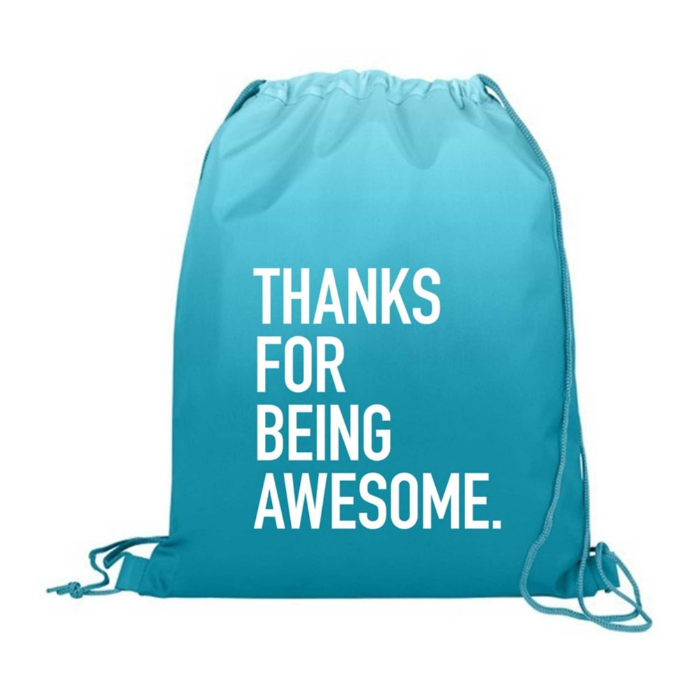 View larger image of Value Ombre Drawstring Backpack - Thanks For Being Awesome