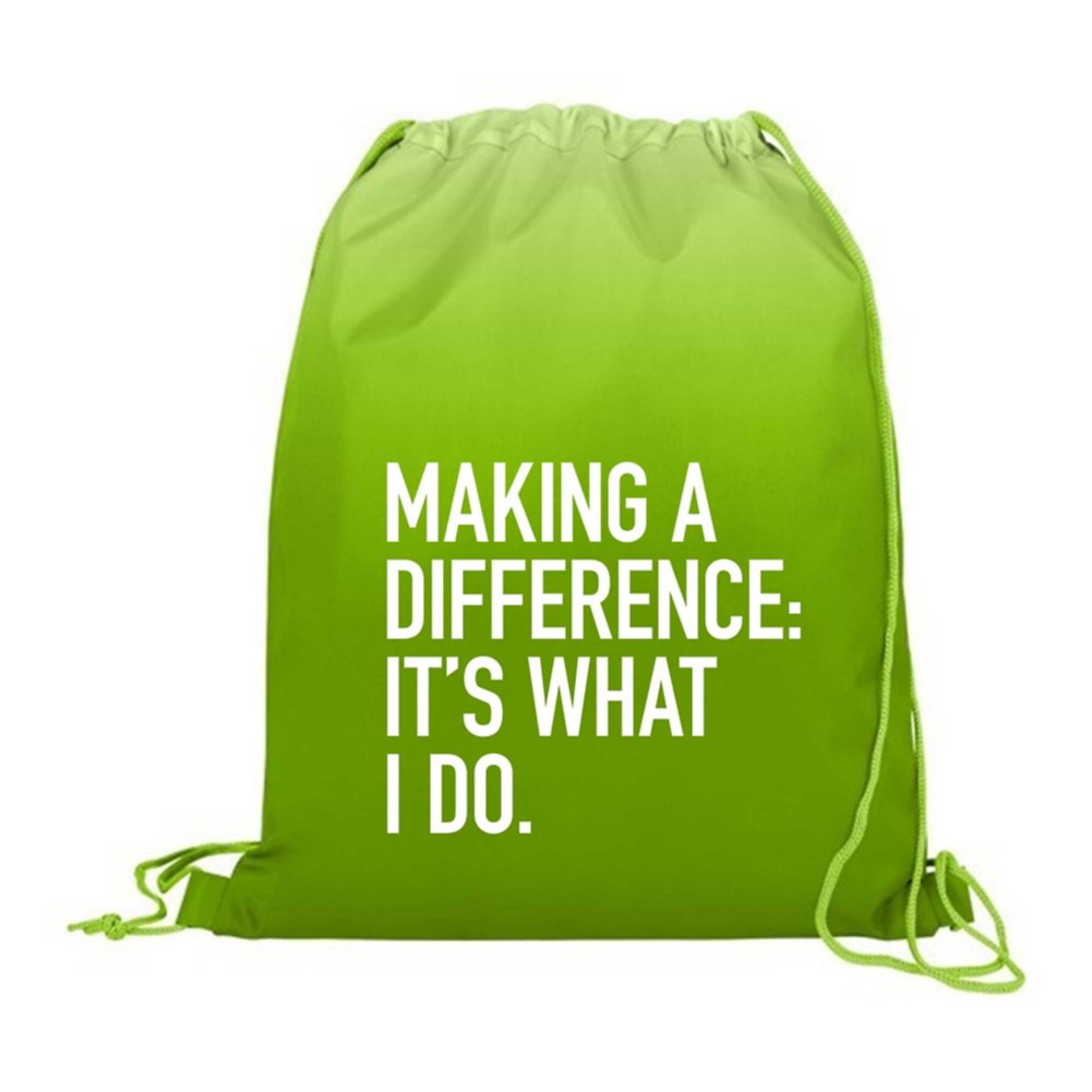 View larger image of Value Ombre Drawstring Backpack - Making a Difference