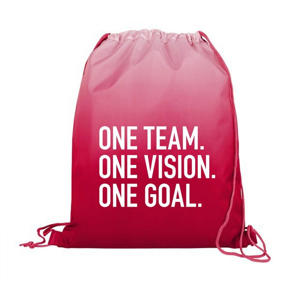 View larger image of Value Ombre Drawstring Backpack - One Team. One Vision.
