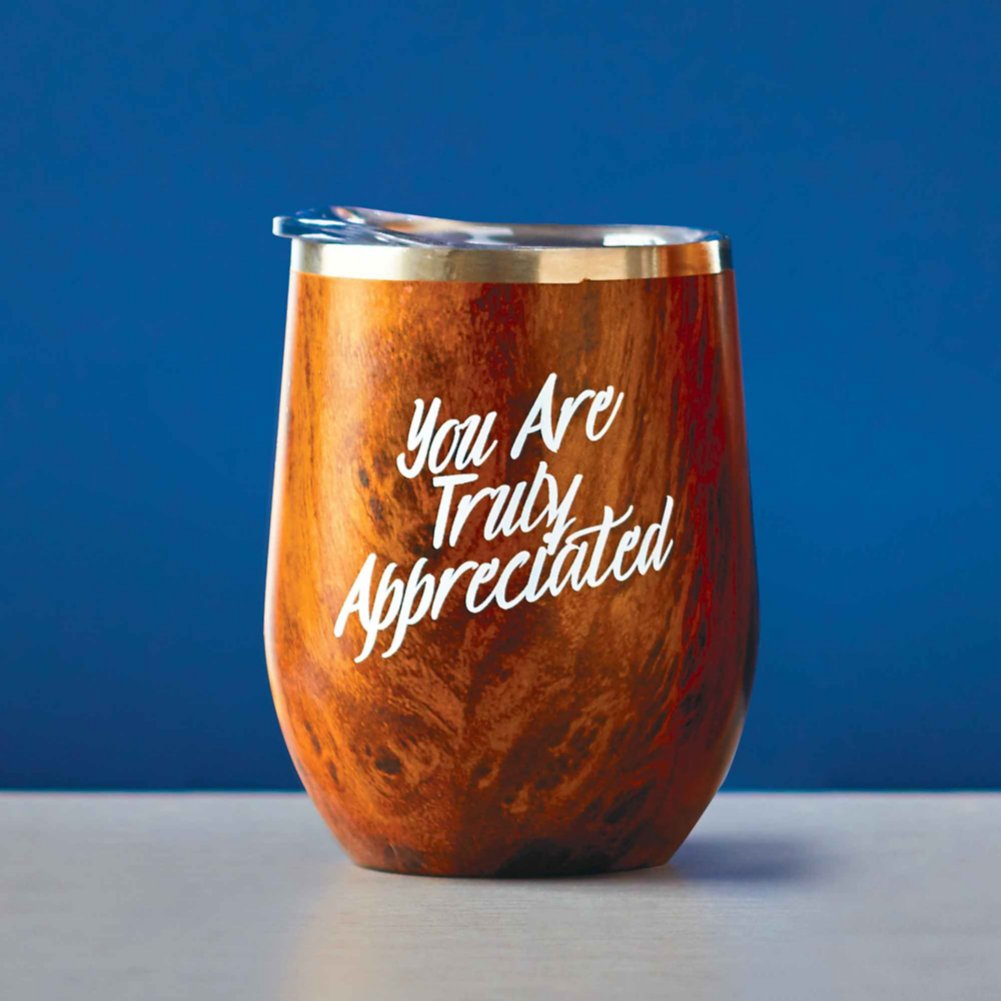 View larger image of Timber Collection - Wine Tumbler - You Are Truly Appreciated