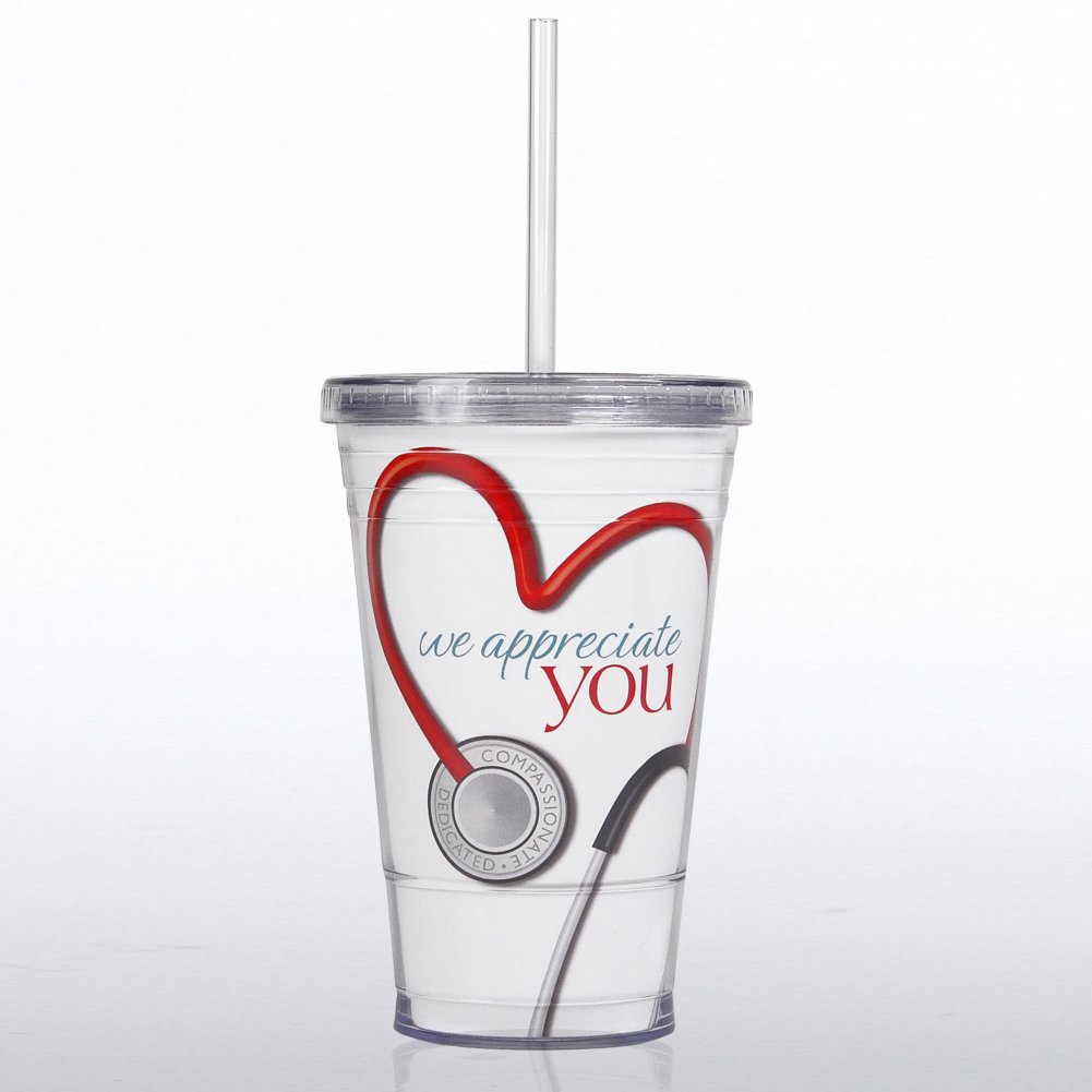 View larger image of Twist Top Tumbler - Stethoscope: We Appreciate You