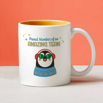 Cheerful Character Mugs - Proud Member of an Amazing Team