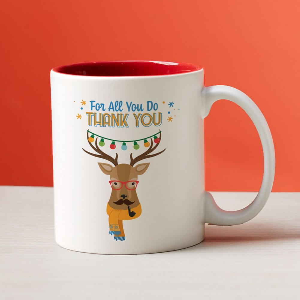 View larger image of Cheerful Character Mugs - For All You Do Thank You