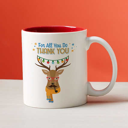 Cheerful Character Mugs - For All You Do Thank You