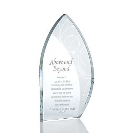 Pattern Etched Glass Award - Sail
