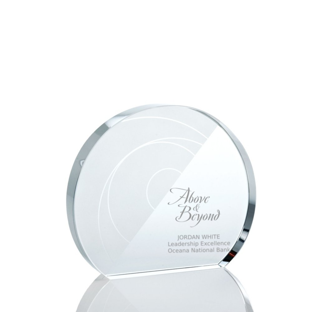 View larger image of Pattern Etched Glass Award - Circle