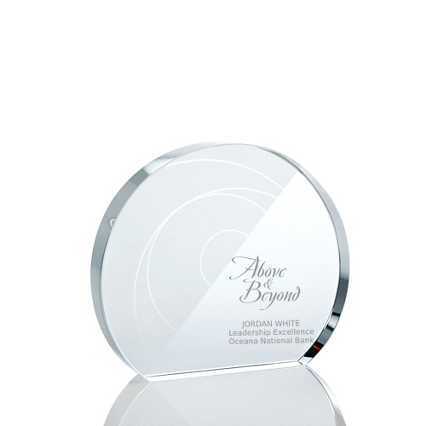 Pattern Etched Glass Award - Circle