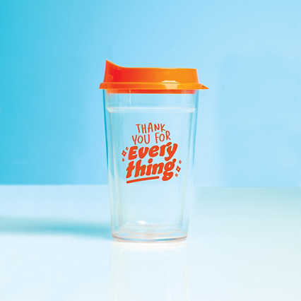 Value Color Pop Travel Tumbler - Thank You For Everything