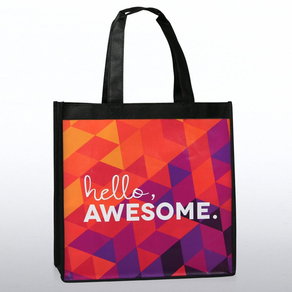 View larger image of Stylin' Shopper Tote - Hello, Awesome