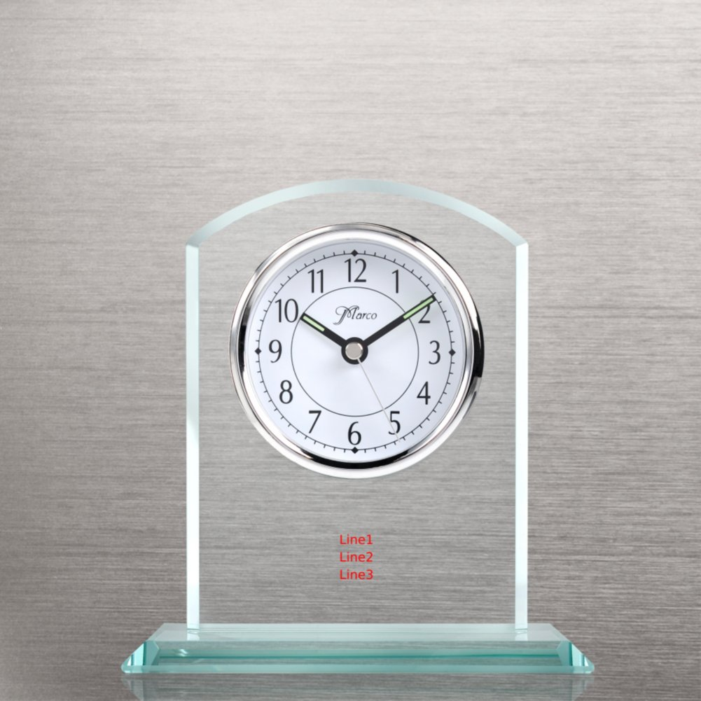 View larger image of Elegant Glass Clock