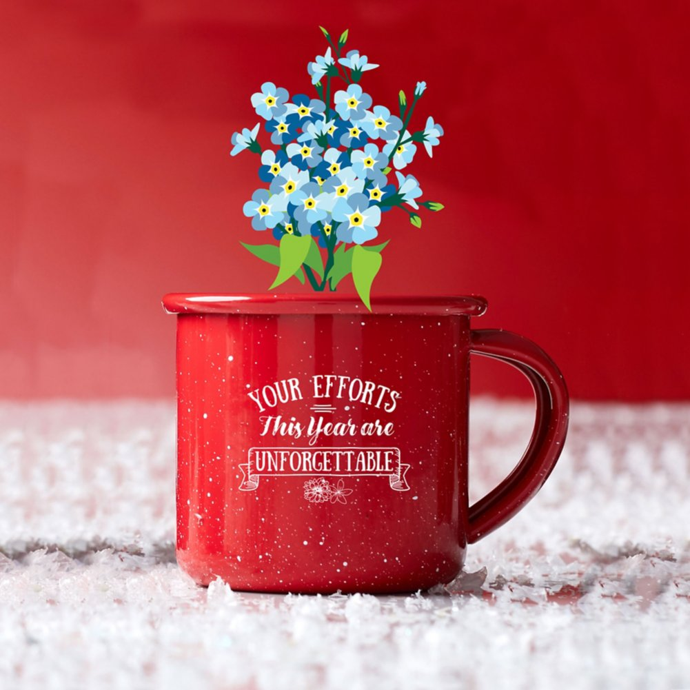 View larger image of Mini Classic Campfire Mug Planters - Unfotgettable