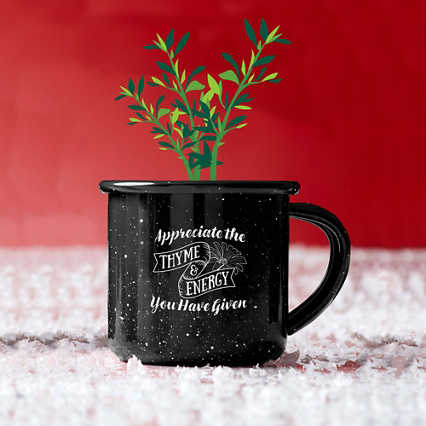 Mini Classic Campfire Mug Planters - Thyme and Energy